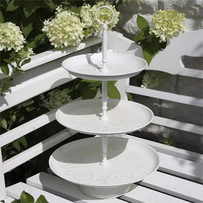 etagere fleurs 3 st ckig cremewei metalletagere wei. Black Bedroom Furniture Sets. Home Design Ideas