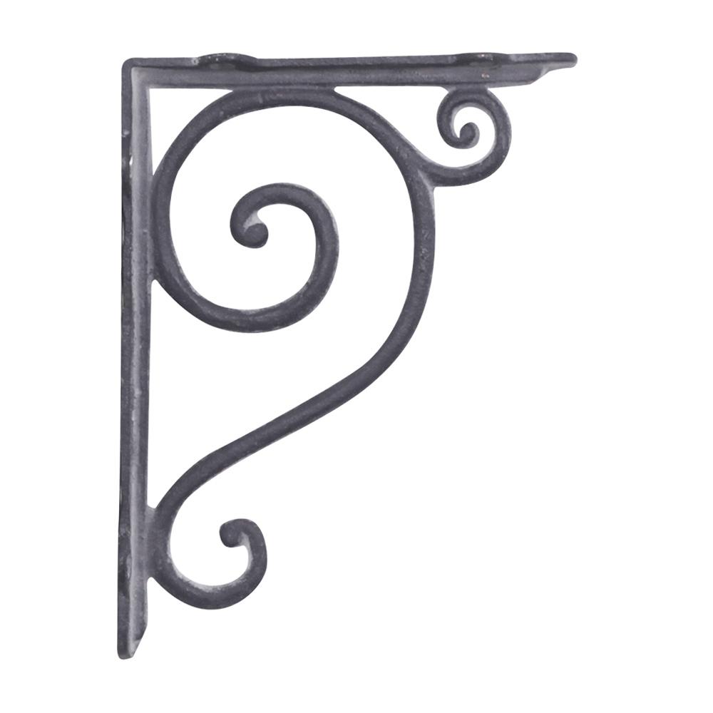 landhaus winkel marlene grau aus gusseisen regalhalterung regalwinkel eisen. Black Bedroom Furniture Sets. Home Design Ideas
