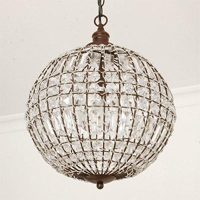 gro e kugellampe cristal kristalle d60cm antikbraun. Black Bedroom Furniture Sets. Home Design Ideas