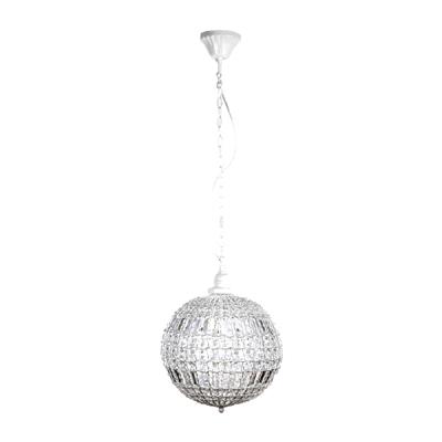 kugellampe cristal wei mit kristallen kugelleuchte. Black Bedroom Furniture Sets. Home Design Ideas