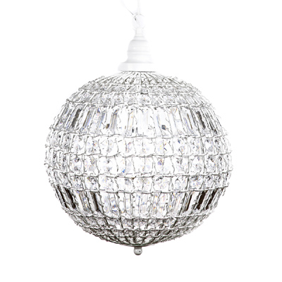 grafelstein kugellampe cristal wei mit kristallen. Black Bedroom Furniture Sets. Home Design Ideas