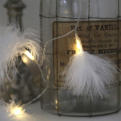 Lichterkette fluffy wei mit federn batteriebetrieben 10 led lichter weihnachten ebay - Lichterkette am fenster aufhangen ...