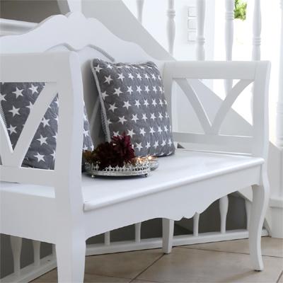 sitzbank marie wei im schwedischen landhausstil bank k chenbank landhaus grafelstein. Black Bedroom Furniture Sets. Home Design Ideas
