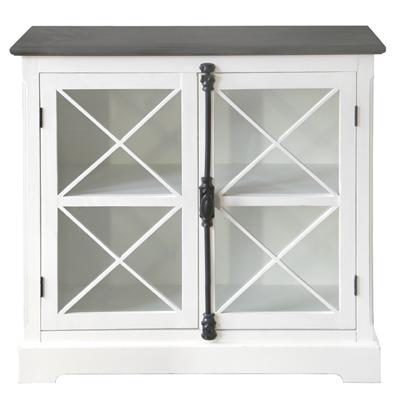 grafelstein vitrinenschrank sommerhaus wei im. Black Bedroom Furniture Sets. Home Design Ideas