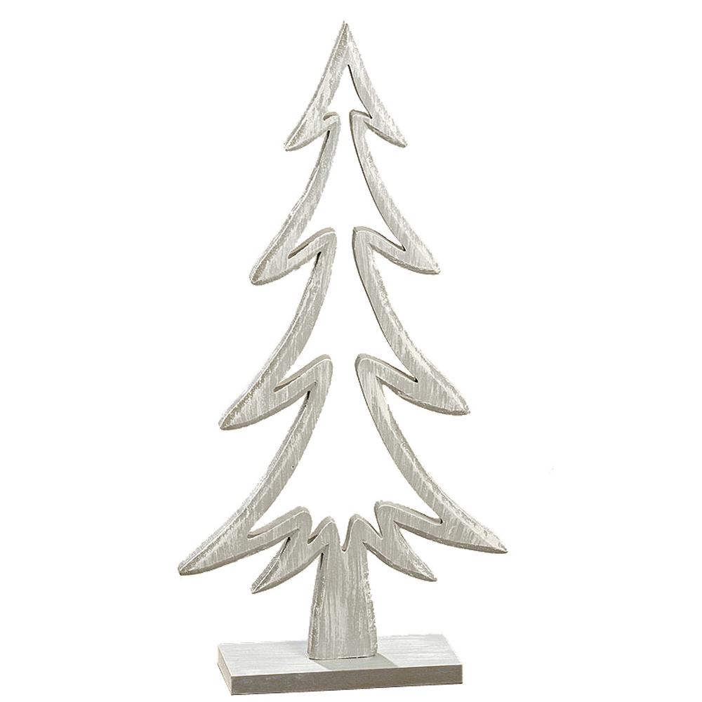 gro er aufsteller tannenbaum grau wei aus holz figur deko. Black Bedroom Furniture Sets. Home Design Ideas