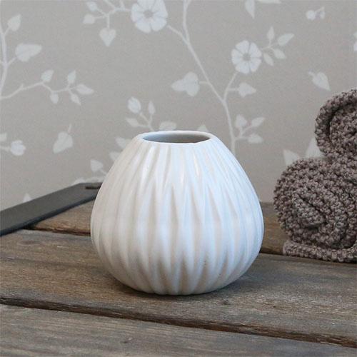 Badbecher DIAMANT weiß aus Porzellan Zahnbürstenhalter Bad moderner Landhausstil