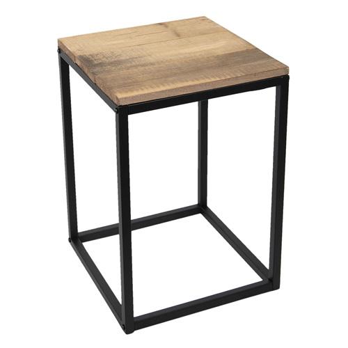 Beistelltisch INDUSTRIAL braun schwarz aus Recycling-Holz und Metall Industry