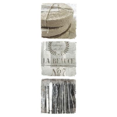 3tlg bild la beauce beige grau wei shabby chic 3 einzelne leinwanddrucke. Black Bedroom Furniture Sets. Home Design Ideas