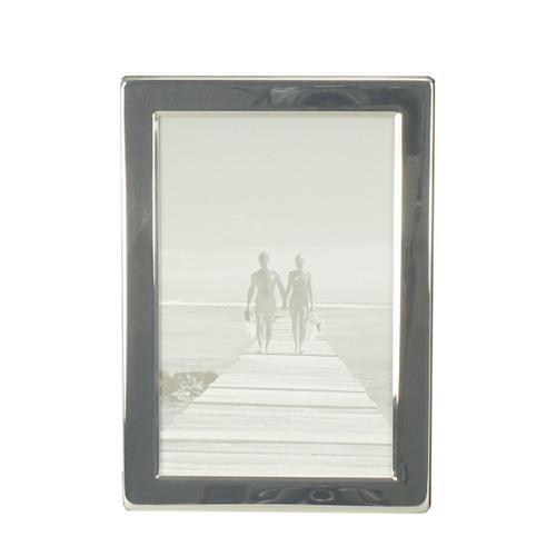 Bilderrahmen SILVER silber mit flachem Rahmen schlicht modern versilbert 10x15cm