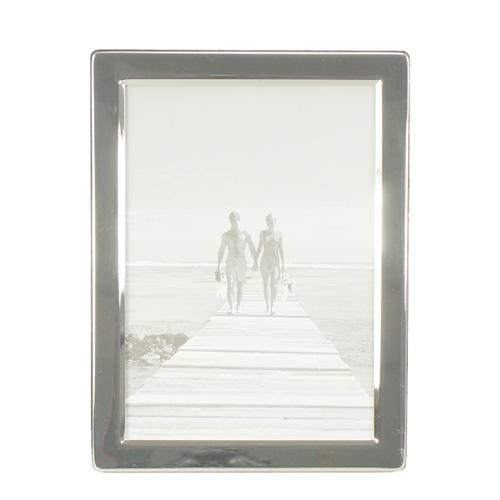 Bilderrahmen SILVER silber mit flachem Rahmen schlicht modern versilbert 13x18cm