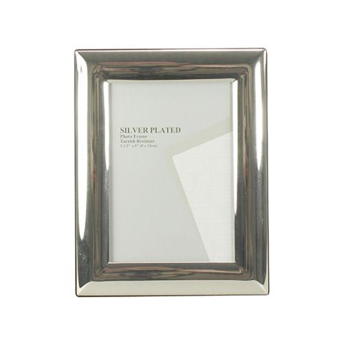 Bilderrahmen CLASSIC silber mit breitem gewölbtem Rahmen versilbert 9x13cm