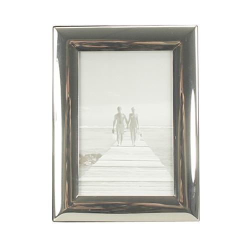Bilderrahmen CLASSIC silber mit breitem gewölbtem Rahmen versilbert 10x15cm