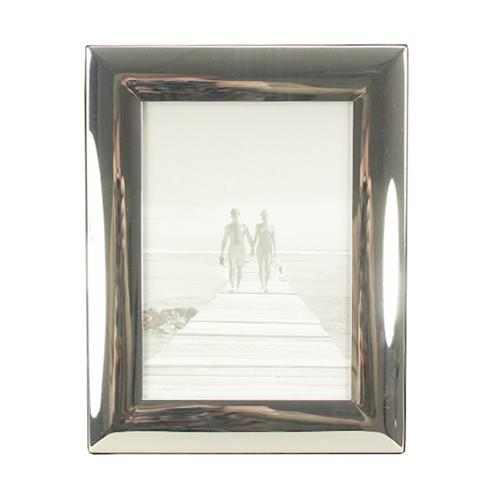Bilderrahmen CLASSIC silber mit breitem gewölbtem Rahmen versilbert 13x18cm