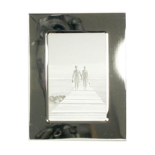 Bilderrahmen STANLEY silber mit breitem flachem Rahmen versilbert 9x13cm