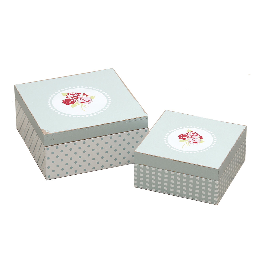hellblaue box rosie mit rosen shabby chic schachtel rosali vintage 2tlg gr kl. Black Bedroom Furniture Sets. Home Design Ideas