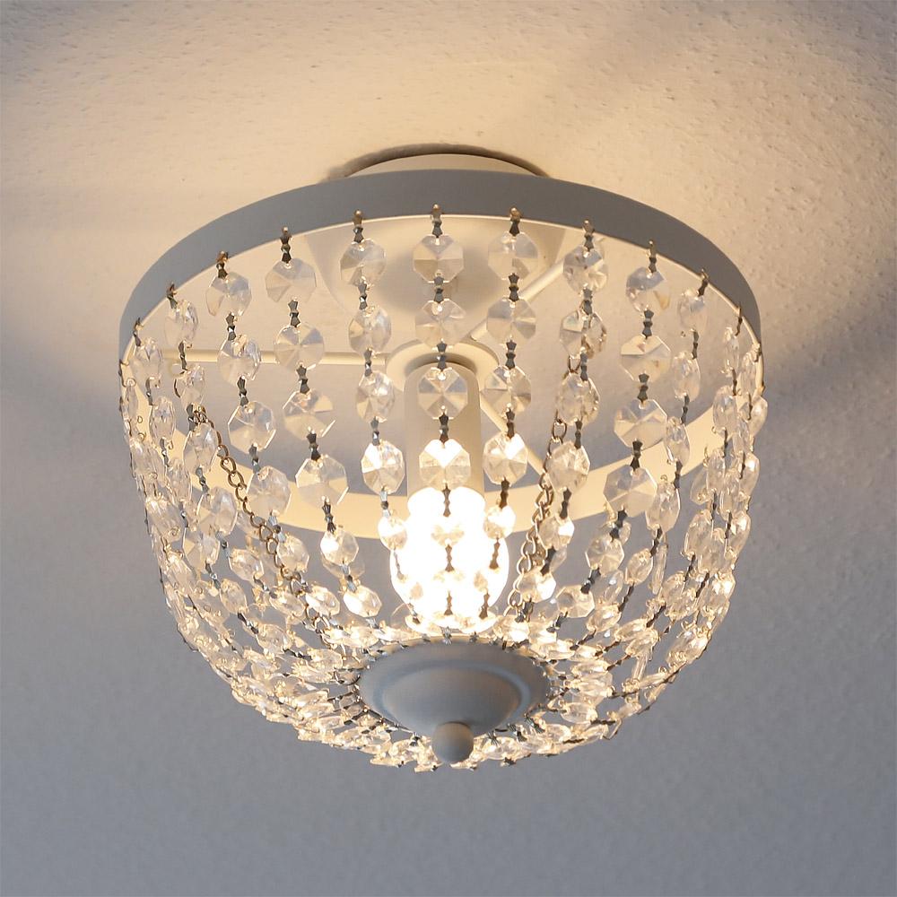deckenlampe chateau wei shabby chic deckenleuchte mit. Black Bedroom Furniture Sets. Home Design Ideas