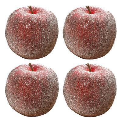 4tlg. Set Deko-Apfel HEDDA aus Kunststoff Dekoäpfel rot - GEEIST