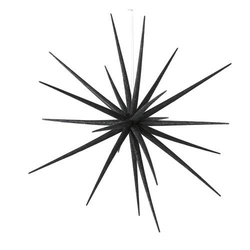 Großer Hängestern STEVIE schwarz Glitter Anhänger Stern Sternanhänger Dekostern