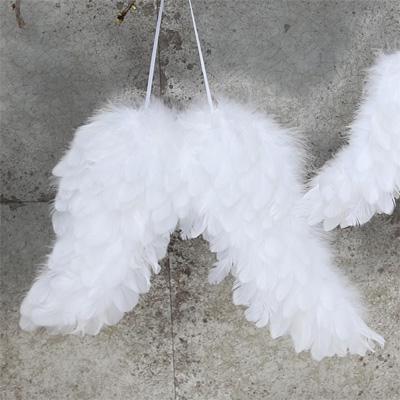 Große Engelflügel SERAPHIEL weiß Flügel aus echten Federn Anhänger Federflügel