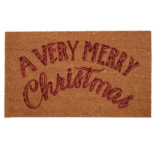 Fußmatte VERY MERRY CHRISTMAS rot natur aus Kokosfaser Frohe Weihnachten