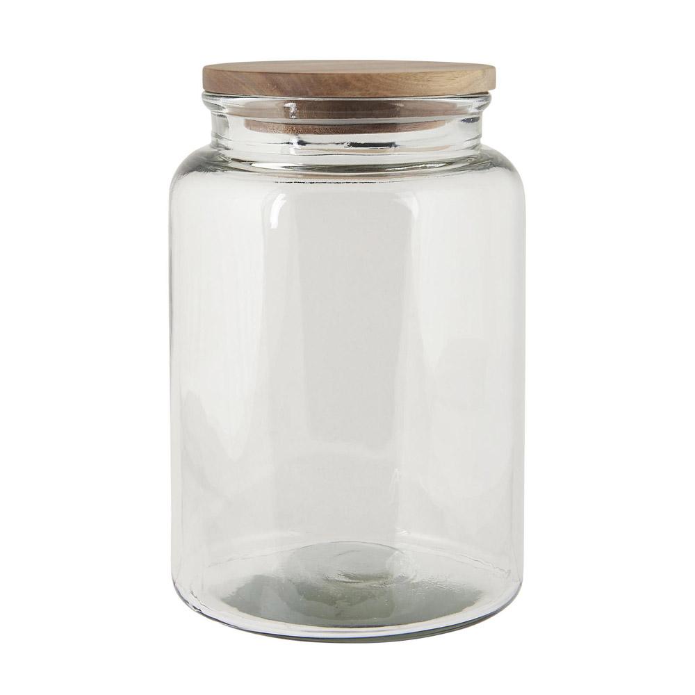 Glasdose HOME transparent mit Holzdeckel 12ml Vorratsdose aus ...