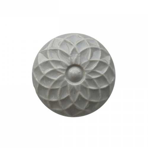 Schrankknopf SCANDI grau aus Keramik shabby chic Schrankgriff Blume Blüte