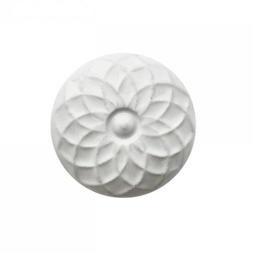 Schrankknopf SCANDI weiß aus Keramik shabby chic Schrankgriff Blume Blüte