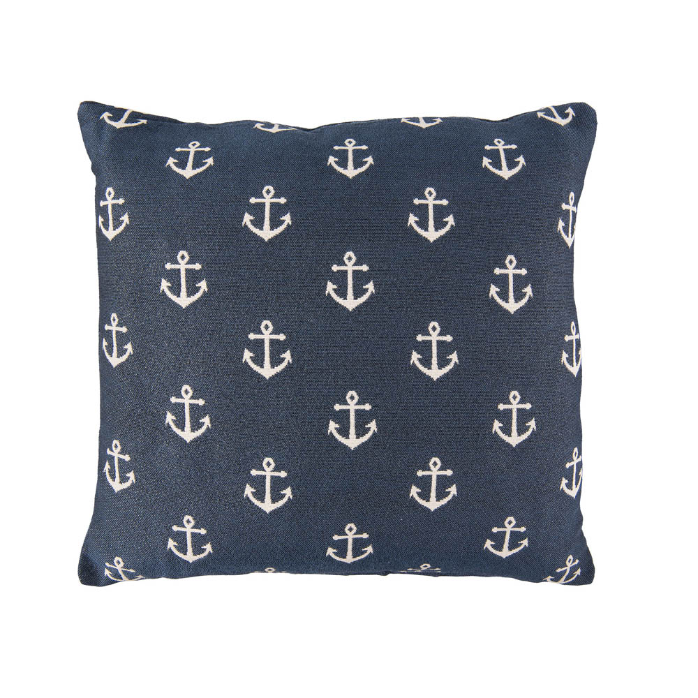kissen anchor blau mit wei en ankern maritim nautic dekokissen. Black Bedroom Furniture Sets. Home Design Ideas
