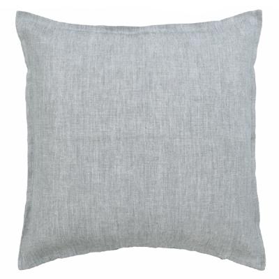Kissenhülle LIN grau meliert aus Leinenstoff 50x50cm Kissen