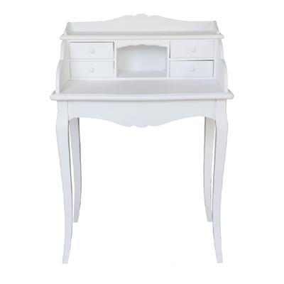 kleiner sekret r marie wei im landhausstil schreibtisch mit 4 schubladen grafelstein. Black Bedroom Furniture Sets. Home Design Ideas