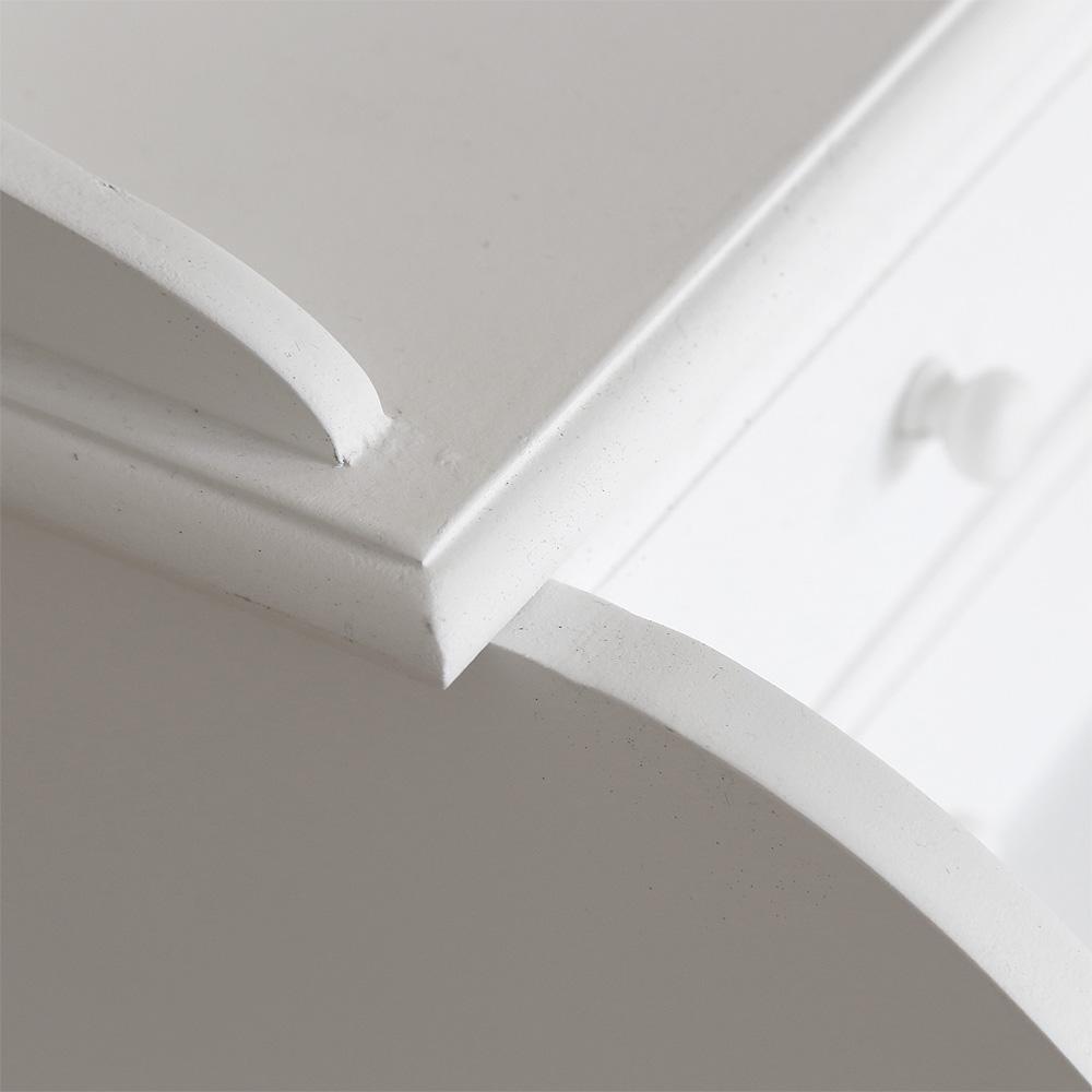 kleiner sekret r marie wei im landhausstil schreibtisch mit 4 schubladen. Black Bedroom Furniture Sets. Home Design Ideas