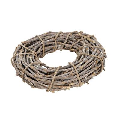 Dekokranz SELMA grau braun Kranz aus Zweigen Türkranz Tischkranz