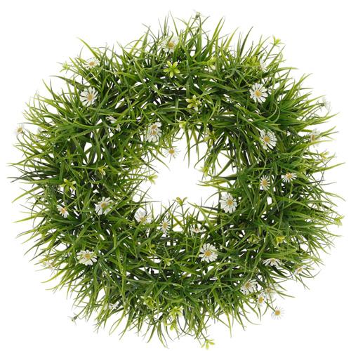 Kranz BELLIS grün weiß Türkranz mit Gänseblümchen Frühlingsdekoration G