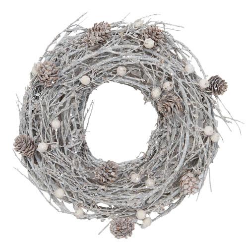 Winterkranz FAIRY TALE silber winterlichter Dekokranz aus Zweigen mit Glitter