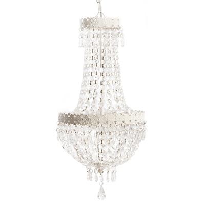 kronleuchter beau chateau wei shabby chic h ngelampe deckenlampe mit kristallen. Black Bedroom Furniture Sets. Home Design Ideas