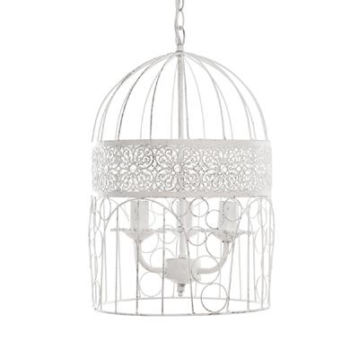 kronleuchter birdcage wei shabby chic vogelk fig h ngelampe deckenlampe. Black Bedroom Furniture Sets. Home Design Ideas
