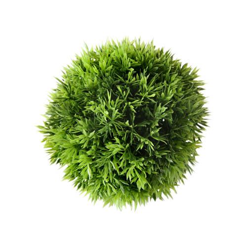 Dekopflanze GRASBALL grün aus Kunststoff Kunstpflanze Gras outdoorgeeignet D15cm