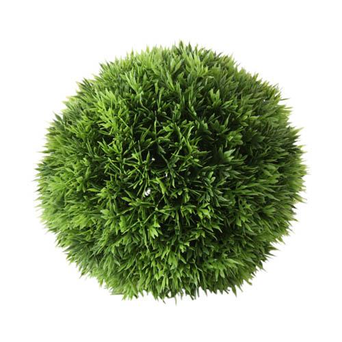 Dekopflanze GRASBALL grün aus Kunststoff Kunstpflanze Gras outdoorgeeignet D18cm