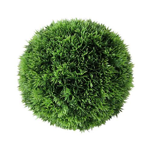 Dekopflanze GRASBALL grün aus Kunststoff Kunstpflanze Gras outdoorgeeignet D23cm