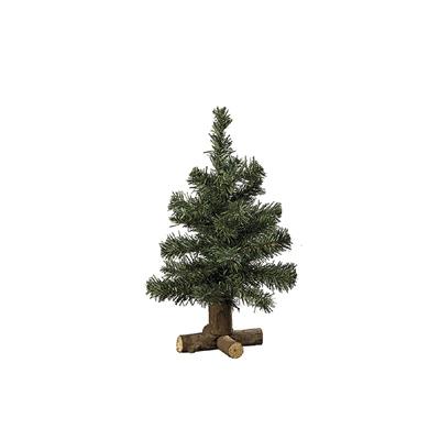Tannenbaum OSLO aus Kunststoff mit Holzfuß Deko-Weihnachtsbaum H35cm