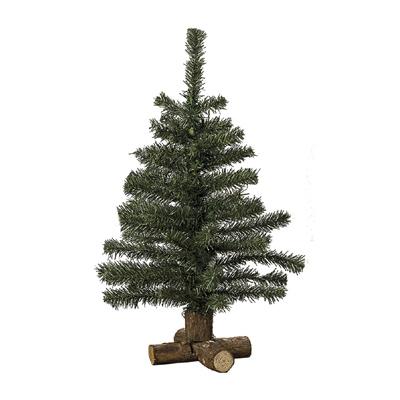 Tannenbaum OSLO aus Kunststoff mit Holzfuß Deko-Weihnachtsbaum H60cm