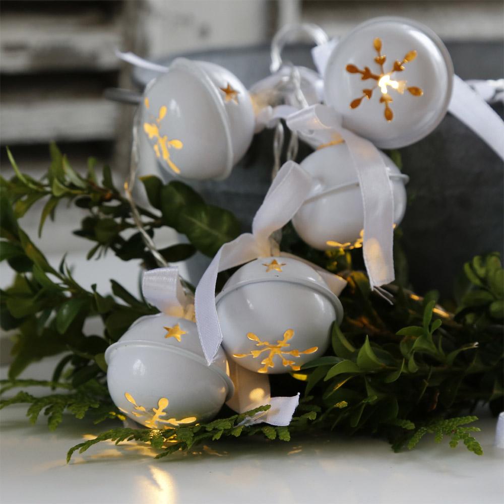 lichterkette white bells wei metallglocken gl ckchen. Black Bedroom Furniture Sets. Home Design Ideas