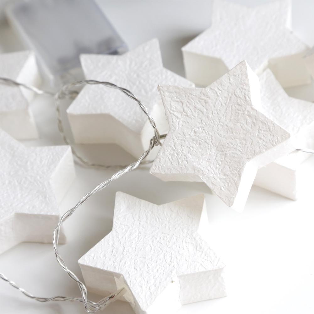 lichterkette paper star wei 10 led papierstern. Black Bedroom Furniture Sets. Home Design Ideas