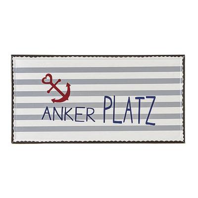 Schild ANKER aus Metall Metallschild maritim (1) - ANKERPLATZ
