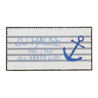 Schild ANKER aus Metall Metallschild maritim (2) - ZUHAUSE IST, WO DER ANKER FÄL