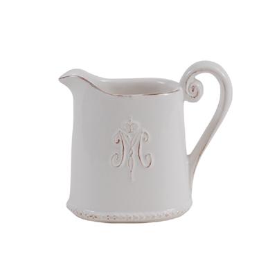 Milchkännchen MAISON weiß im Landhausstil Kanne Kännchen Vintage 21053260