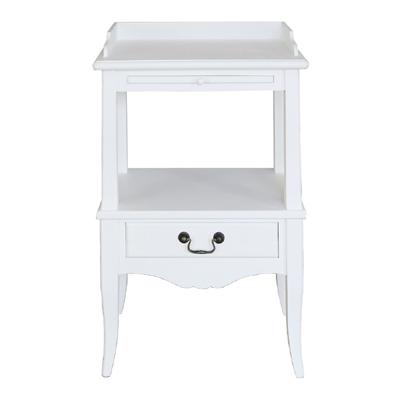 nachttisch marie wei im landhausstil mit schublade nachtkonsole landhaus grafelstein. Black Bedroom Furniture Sets. Home Design Ideas