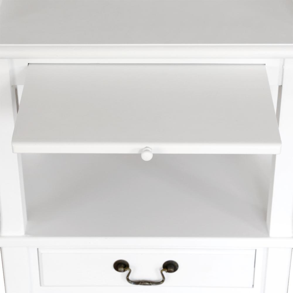 nachttisch marie wei im landhausstil mit schublade nachtkonsole beistelltisch ebay. Black Bedroom Furniture Sets. Home Design Ideas