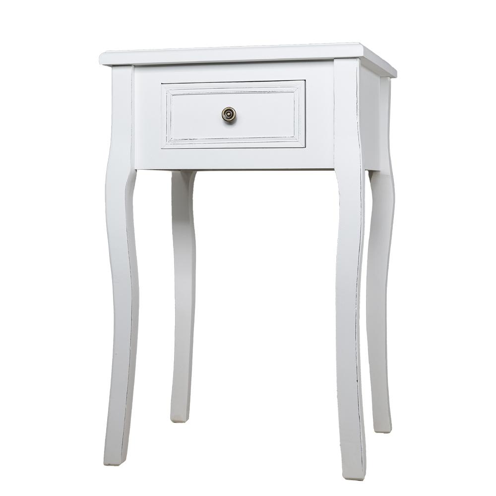 nachtschrank madame wei im landhausstil nachttisch mit geschwungenen beinen. Black Bedroom Furniture Sets. Home Design Ideas