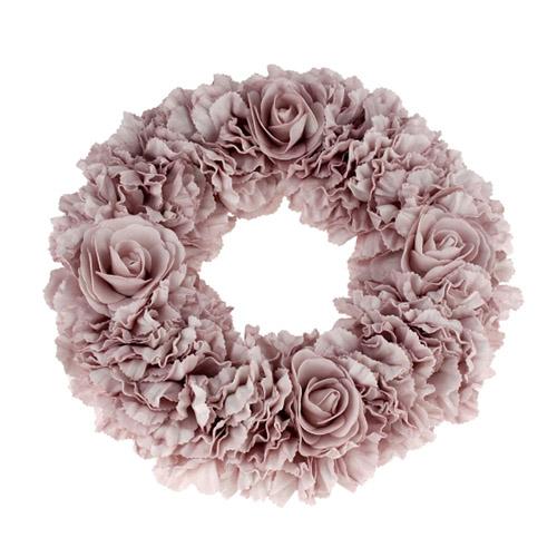 Dekokranz ROSES rosa Kranz aus Rosen Rosenblättern Vintage Deko shabby chic